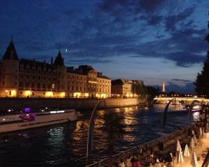 River Seine at night