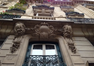A typical Parisian building facade