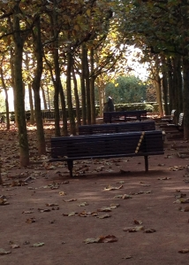 A forlorn park in an autumn afternoon