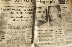 Edition of The Daily Telegraph on July 21st, 1969.