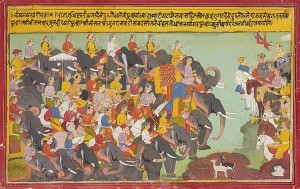 Pandava and Kaurava armies face each other: Artist's impression